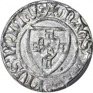 RR-, Zakon Krzyżacki, Henryk I von Plauen 1410-1414, Szeląg, Gdańsk, LITERA D