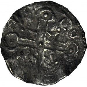 Dania, Hardeknut 1035-1042?, naśladownictwo denara Knuta typu Helmet