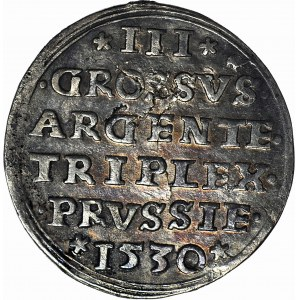 RR-, Zygmunt I Stary, Trojak 1530, Toruń, T.18mk., R5