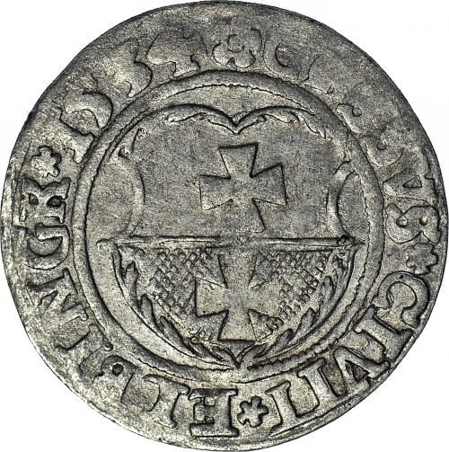 RR-, Zygmunt I Stary Grosz 1534 Elbląg, błąd GOSSVS, R6