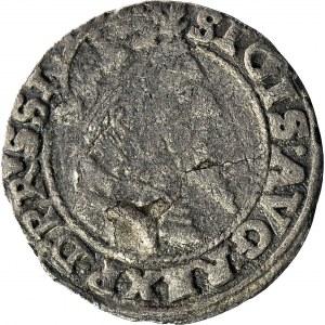 RRR-, Zygmunt II August, Grosz 1556, Gdańsk, mikro V, NE w ligaturze