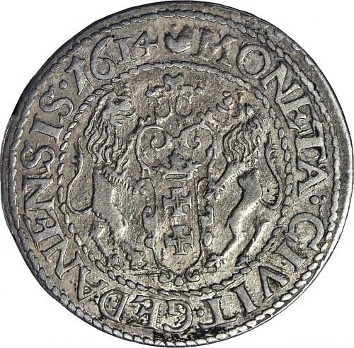 Zygmunt III Waza, Ort 1614, Gdańsk, mała 14 w dacie, Shatalin R3