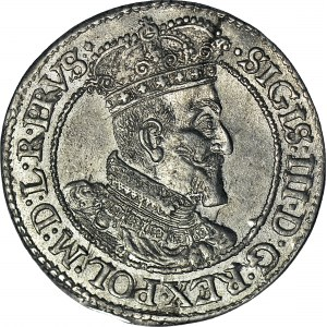 Zygmunt III Waza, Ort 1618, Gdańsk, krzyż za datą