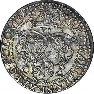 Zygmunt III Waza, Szóstak 1596, Malbork, piękny