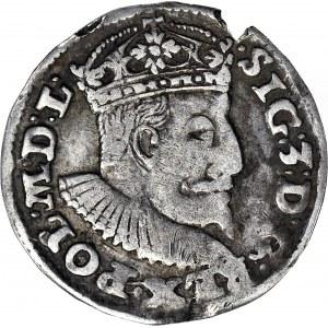 RR-, Zygmunt III Waza, Trojak 1595, Lublin, znak TOPÓR, T.25, Iger R5