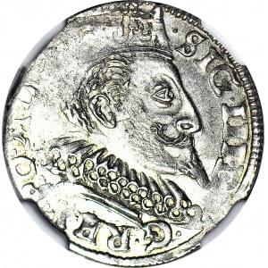 Zygmunt III Waza, Trojak 1596, Bydgoszcz FS-HR, menniczy