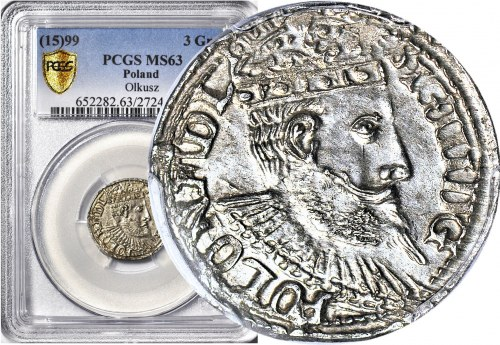 Zygmunt III Waza, Trojak 1599 Olkusz, menniczy