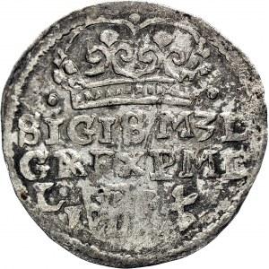 RR-, Zygmunt III Waza, Grosz Lublin 1597, korona z kulami, T.25, R6