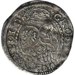 RRR-, Zygmunt III Waza, Grosz 1597 Poznań, końcówka MD (zamiast MDL), niekatalogowany