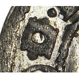 Zygmunt III Waza, Szeląg 1609 Ryga, menniczy, niekatalogowana przebita litery D