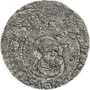 RRR-, Kurlandia, Fryderyk i Wilhelm Kettler, Szeląg 1596, Mitawa