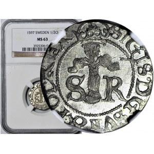 Zygmunt III Waza, 1/2 öre 1597, Sztokholm, mennicze