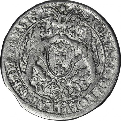 R-, Jan Kazimierz, Ort 1662 Gdańsk, Lewek w tarczy