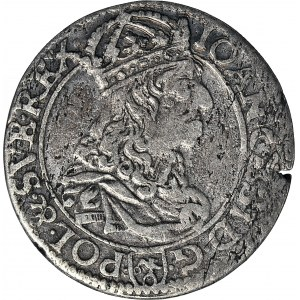 Jan Kazimierz, Szóstak 1661, Kraków TL-B