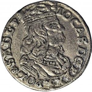 RR-, Jan Kazimierz, Szóstak 1661, Poznań N-G, hybryda