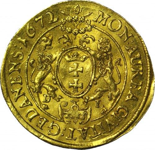 RR-, Michał Korybut Wiśniowiecki, Dukat 1672 Gdańsk, RZADKI ROCZNIK, R5