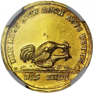 R-, August II Mocny, Coseldukat bez daty (1706), Drezno