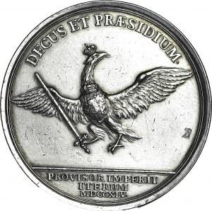 RR-, August III Sas, gruby PODWÓJNY TALAR 1745 Drezno, rzadkość