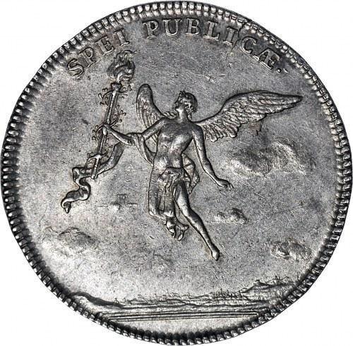 August III Sas, 2/3 talara (gulden zaślubinowy) 1747, Drezno, piękne