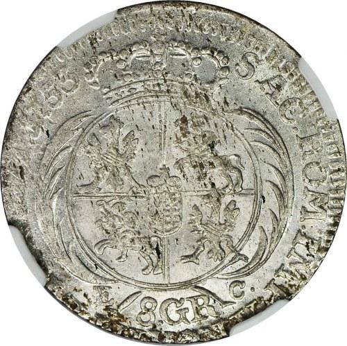August III Sas, Dwuzłotówka (8 groszy) 1753, piękna