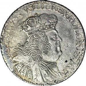 August III Sas, Dwuzłotówka (8 groszy) 1753, wysokie litery nominału