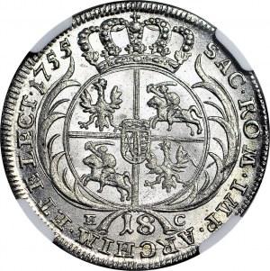 August III Sas, Ort 1755, WYŚMIENITY