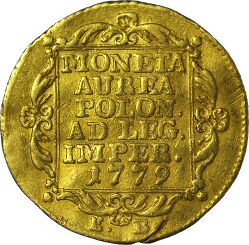 RR-, S.A.Poniatowski, Dukat 1779, nakład 2411 szt.