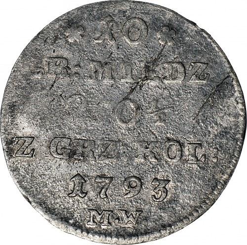 Stanisław A. Poniatowski, 10 groszy miedziane 1793, Warszawa