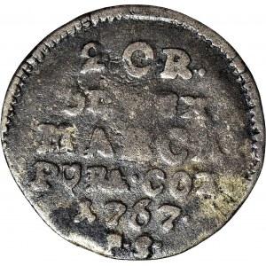 R-, Stanisław A. Poniatowski, Półzłotek 1761 FS rok, fałszerstwo pruskie?