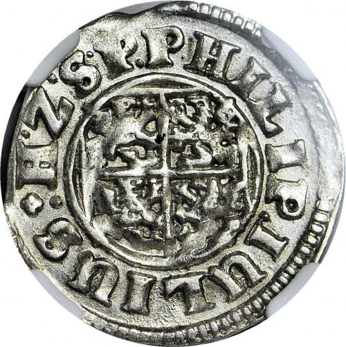 R-, Pomorze, Księstwo Wołogoskie, Filip Juliusz, Grosz 1613, Nowopole, Kop. R1