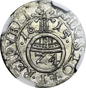 Pomorze, Księstwo Szczecińskie, Filip II, Grosz 1615, Szczecin, Kop. R