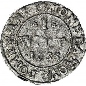R-, Pomorze, Karol X Gustaw, Wit 1655, Szczecin