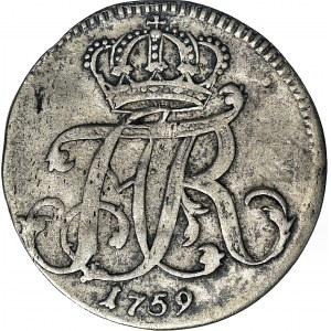 R-, Pomorze zachodnie, Adolf Fryderyk 4 grosze 1759, Strzałów