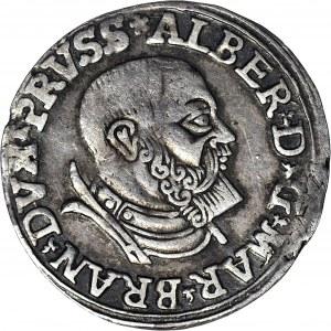 Lenne Prusy Książęce, Albrecht Hohenzollern, Trojak 1535, Królewiec