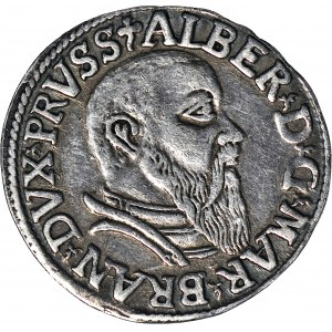 Lenne Prusy Książęce, Albrecht Hohenzollern, Trojak 1542, Królewiec