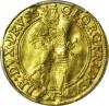 RRR-, Lenne Prusy Książęce, Jerzy Fryderyk, Dukat 1587, Królewiec, egzemplarz ilustrowany w katalogu, R7
