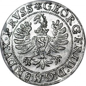 R-, Lenne Prusy Książęce, Jerzy Fryderyk, Grosz 1595, Królewiec, R2