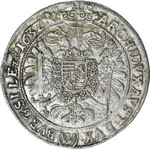 RR-, Śląsk, Ferdynand II, Talar 1632, Wrocław, rzadki (W) pod orłem