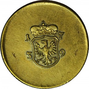R-, Śląsk, odważnik Dwudukata, 1739