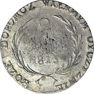 R-, Monety w oblężeniu Zamościa, 2 złote 1813, odwrócone N, R3