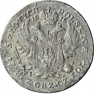 Królestwo Polskie, Aleksander I, 5 złotych 1816, piękne