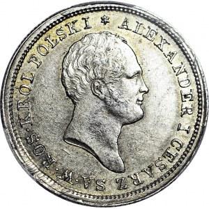 R-, Królestwo Polskie, Aleksander I, 2 złote 1821, widoczny baczek