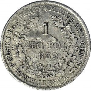 Królestwo Polskie, Aleksander I, Złotówka 1832, mała głowa