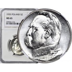 5 złotych 1935, Piłsudski, menniczy