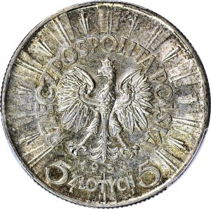 5 złotych 1938, Piłsudski, menniczy