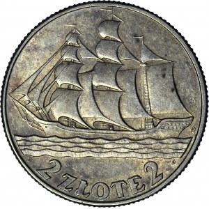 2 złote 1936, Żaglowiec