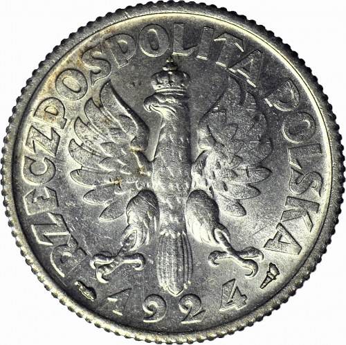 1 złoty 1924 Paryż, Żniwiarka, mennicza