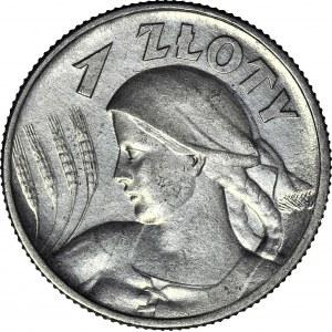 1 złoty 1925 Londyn, Żniwiarka, kropka po dacie