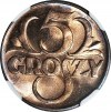 5 groszy 1939, mennicze, kolor RD