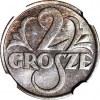 2 grosze 1928, mennicze, kolor BN